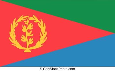 Eritrea flag, vector