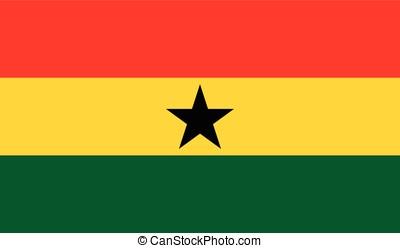 Ghana flag, vector