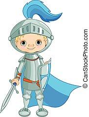 Brave Knight - Illustration of a brave knight