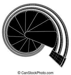 Spiral Staircase Vector 17a.eps - Spiral Staircase...