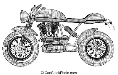Motorcycle Vector 18.eps - Motorcycle Illustration Vector