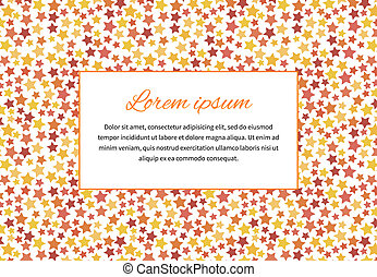 Card cover with stars and text space, a4 size horizontal...