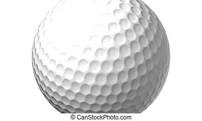 Golf Ball On White Background - Loop able 3DCG render...