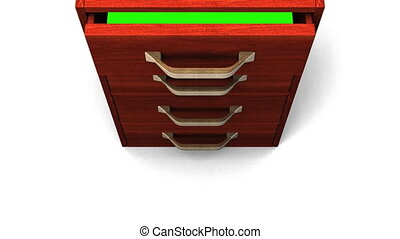 Drawer With Green Chroma Key