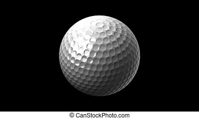 Golf Ball On Black Background - Loop able 3DCG render...