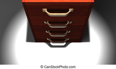 Spotlighted Drawer - 3DCG render Animation.