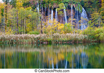 waterfalls of Plitvice National Park - Waterfalls of...