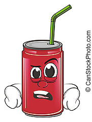 angry soda can - red angry soda can