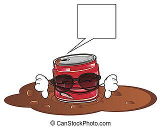 sad crumple soda can - sad red crumple soda can in black...