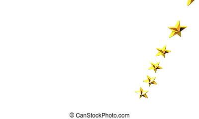 Stars For Title Frame On White Background - 3DCG render...