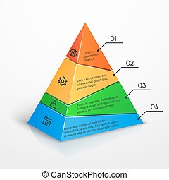 Layers hierarchy pyramid chart vector presentation...