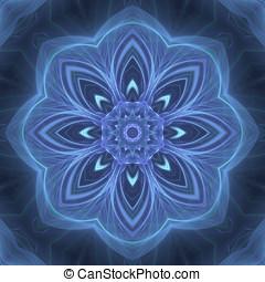 Neon floral fractal