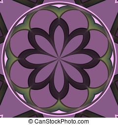 Purple circular flower shaped tile background