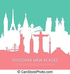 Discover new places with cityscape silhouettes