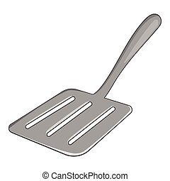 Kitchen spatula icon, cartoon style - Kitchen spatula icon....