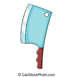 Kitchen axe icon, cartoon style