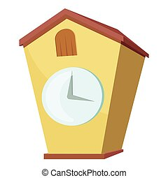Cuckoo clock icon, cartoon style - Cuckoo clock icon....