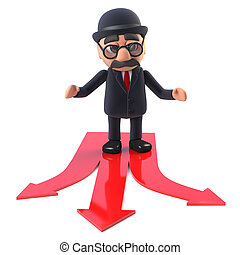 3d Bowler hatted British businessman has a choice to make -...