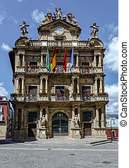 Town hall of Pamplona, Spain