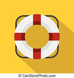 Lifeline icon, flat style - Lifeline icon. Flat illustration...