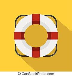 Lifeline icon, flat style - Lifeline icon. Flat illustration...