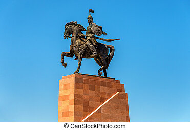 Monument Epic of Manas on Ala-Too Square in Bishkek,...