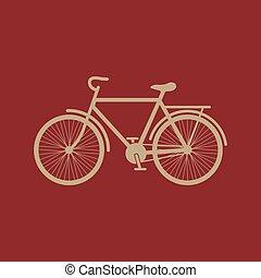 平ら, アイコン, 自転車, 自転車, シンボル