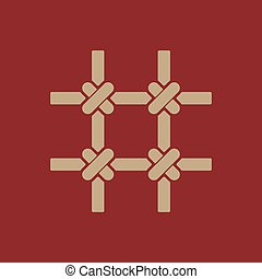 The prison bars icon. Grid symbol. Flat Vector illustration