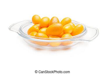 kumquat cumquat on a white background - kumquat (cumquat)...