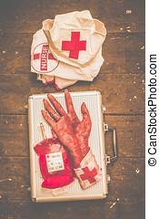 Make your own frankenstein medical kit - Amputation horror...