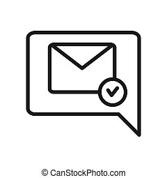 confirmation letter icon illustration design