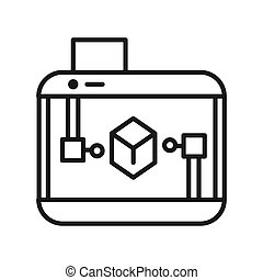 3d printer icon illustration design