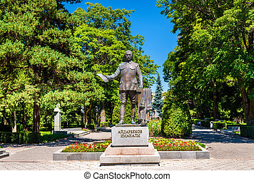 Statue of Imanaly Aidarbekov in Bishkek, Kyrgyzstan - Statue...