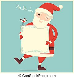 Santa Claus isolated vector