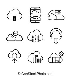 cloud icon set illustration design