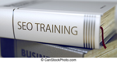 Seo Training Concept. Book Title. 3D.
