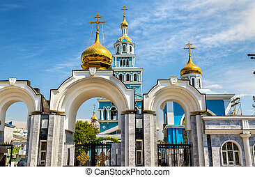 Dormition Cathedral of Russian Orthodox Church in Tashkent -...