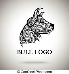 Vector Bull logo template for sport teams, business brands etc