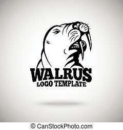 Vector Walrus logo template for sport teams, business etc