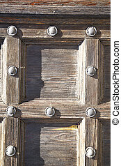 the jerago in a door curch closed wood italy lombardy - the...