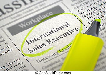 International Sales Executive Join Our Team. 3D.