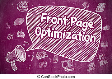 Front Page Optimization - Business Concept. - Business...