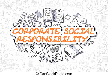 Corporate Social Responsibility - Business Concept.