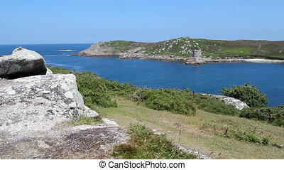 Brher and Tresco Isles of Scilly. - Looking from Bryher...