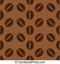 Brown coffee beans pattern - Brown coffee beans seamless...