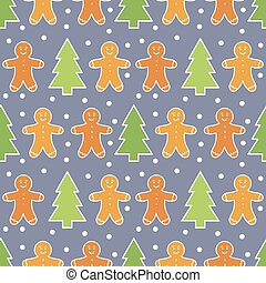 Gingerbread man pattern - Gingerbread man Christmas pattern
