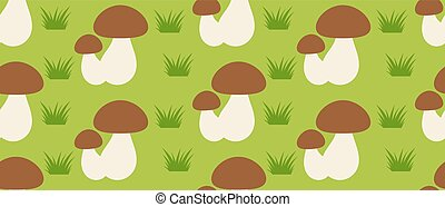 Forest mushroom seamless pattern. Vector illustration