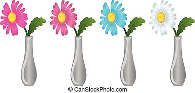daisy flowers in a vase