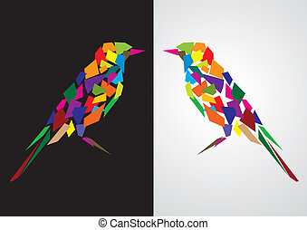 Colorful abstract bird