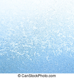 Icy Frost on winter morning - Frosty winter background photo...